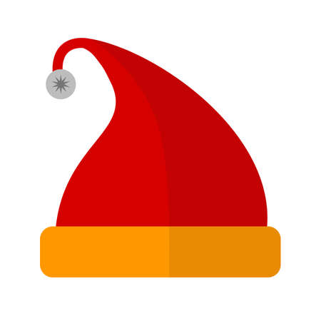 Santaclaus, party, cap icon vector image.Can also be used for christmas, celebrations, observances and holidays. Suitable for use on web apps, mobile apps and print media.