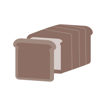 Bread, grain, sliced icon vector image. Can also be used for eatables, food and drinks. Suitable for use on web apps, mobile apps and print media