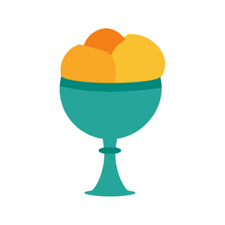 frozen fruit: Cream, goblet, icecream icon vector image. Can also be used for sweets and confectionery. Suitable for use on web apps, mobile apps and print media. Illustration