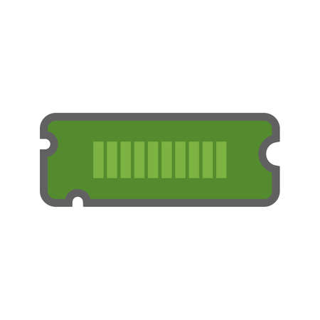 memory board: RAM, computer, circuit, board icon vector image. Can also be used for computer and hardware. Suitable for use on web apps, mobile apps and print media.