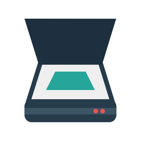 documentos: Scanner, documento, imagen del icono del vector de exploración. También se puede utilizar para la computadora y el hardware. Adecuado para su uso en aplicaciones web, aplicaciones móviles y material de impresión.