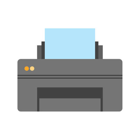 laser printer: Printer, printing machine, digital printer icon vector image. Can also be used for printing, office equipment and copying. Suitable for web apps, mobile apps and print media