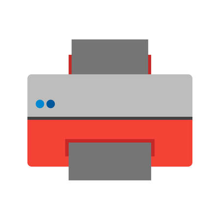 copying: Printer, printing machine, digital printer icon vector image. Can also be used for printing, office equipment and copying. Suitable for web apps, mobile apps and print media