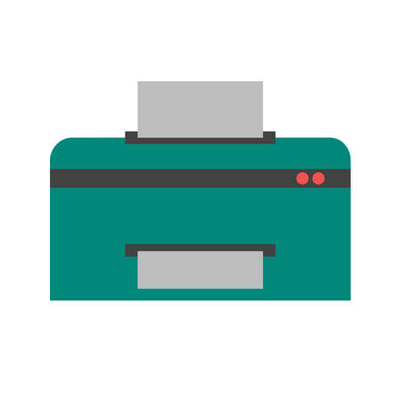printing machine: Printer, printing machine, digital printer icon vector image. Can also be used for printing, office equipment and copying. Suitable for web apps, mobile apps and print media