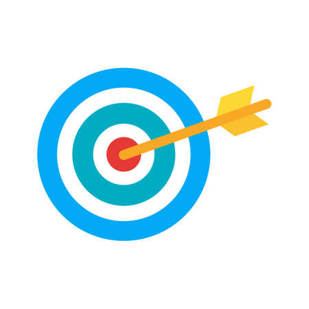 technology market: Target, market, aim icon vector image. Can also be used for seo, digital marketing, technology. Suitable for use on web apps, mobile apps and print media.