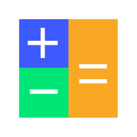 calculate: Calculation, calculate, mathematics, accounting icon vector image. Can also be used for seo, digital marketing, technology. Suitable for use on web apps, mobile apps and print media. Illustration