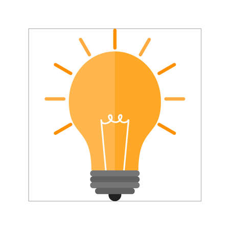 electric bulb: Bulb, electric, idea, promotion icon vector image. Can also be used for seo, digital marketing, technology. Suitable for use on web apps, mobile apps and print media.