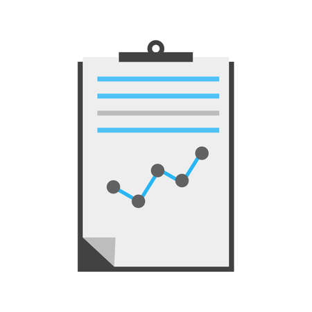 report icon: Documents, statistics, report, file icon vector image. Can also be used for seo, digital marketing, technology. Suitable for use on web apps, mobile apps and print media.