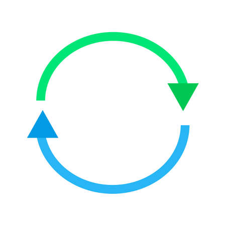 Synchronize, refresh, reload icon vector image. Can also be used for seo, digital marketing, technology. Suitable for use on web apps, mobile apps and print media.