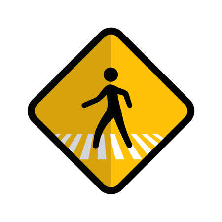 crosswalk: Pedestrian, corssing, crosswalk icon vectgor image. Can also be used for transport, transportation and travel. Suitable for mobile apps, web apps and print media. Illustration