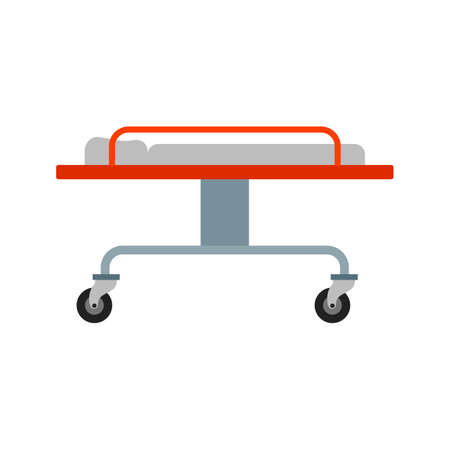 stretcher: Stretcher, ambulance, medical icon vectgor image. Can also be used for transport, transportation and travel. Suitable for mobile apps, web apps and print media.
