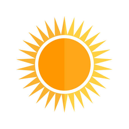 vector image: Sun, solar, summer icon vector image. Can also be used for energy and technology. Suitable for web apps, mobile apps and print media.
