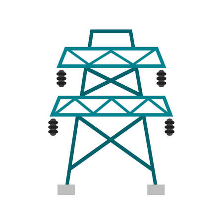 power icon: Electricity, power, tower icon vector image. Can also be used for energy and technology. Suitable for web apps, mobile apps and print media.
