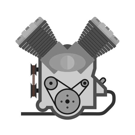 Engine, motor, power icon vector image. Can also be used for energy and technology. Suitable for web apps, mobile apps and print media. Çizim