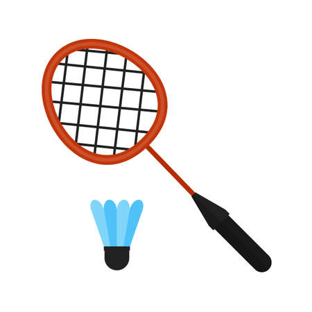 badminton racket: Badminton, racket, shuttlecock, sports icon vector image. Can also be used for fitness, recreation. Suitable for web apps, mobile apps and print media.