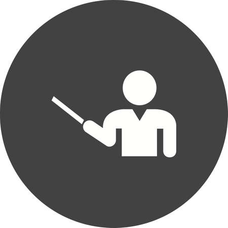tutor: Profesor, profesor, la imagen del icono del vector tutor. Tambi�n se puede utilizar para la educaci�n, acad�micos y la ciencia. Adecuado para su uso en aplicaciones web, aplicaciones m�viles y material de impresi�n. Vectores