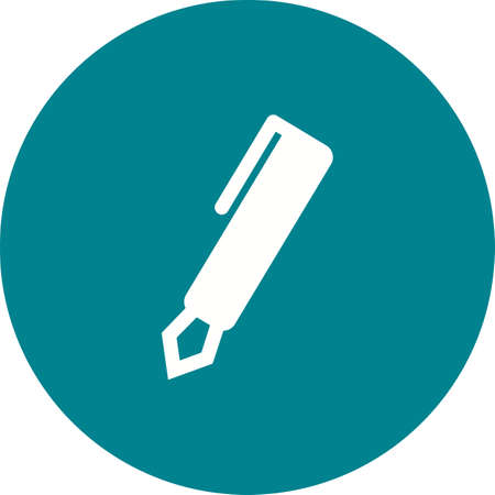 pen and marker: Pen, marker, pencil icon vector image. Can also be used for education, academics and science. Suitable for use on web apps, mobile apps and print media.
