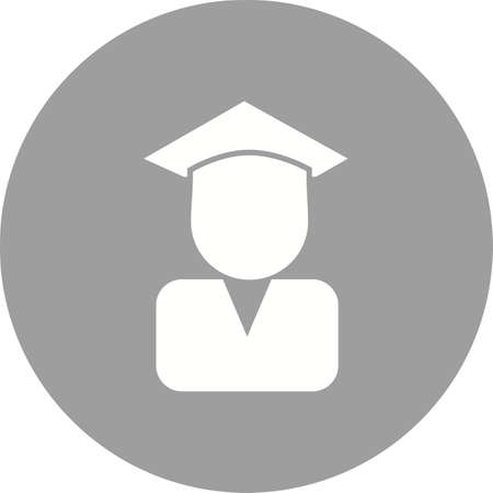 convocation: Certificate, diploma, convocation, degree icon vector image. Can also be used for education, academics and science. Suitable for use on web apps, mobile apps and print media. Illustration