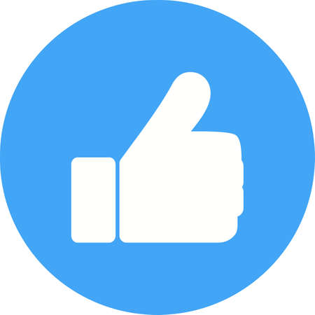 facebook: Like, social, facebook icon vector image.Can also be used for user interface. Suitable for mobile apps, web apps and print media.