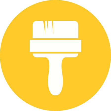 artisitc: Paint brush, brush, acrylic icon vector image. Can also be used for construction, interiors and building. Suitable for use on web apps, mobile apps and print media.