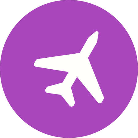 airbus: Plane, fly, aircraft icon vector image. Can also be used for summer, recreation and fun. Suitable for use on mobile apps, web apps and print media. Illustration