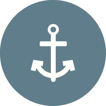 vector image: Anchor, ship, boat icon vector image. Can also be used for summer, recreation and fun. Suitable for use on mobile apps, web apps and print media. Illustration