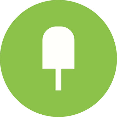summer's: Ice lolly, sweet, tasty icon vector image. Can also be used for summer, recreation and fun. Suitable for use on mobile apps, web apps and print media.