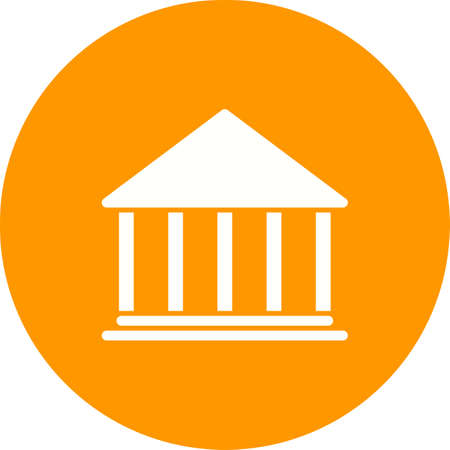 premises: Building, bank, institution icon vector image.Can also be used for banking, finance, business. Suitable for web apps, mobile apps and print media. Illustration