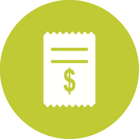 cash receipt: Dollar, cash, receipt, icon vector image.Can also be used for banking, finance, business. Suitable for web apps, mobile apps and print media.