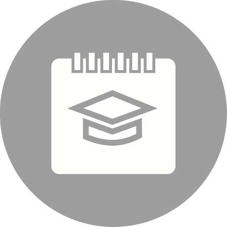 알림: Timetable, schedule, event, notification,icon vector image. Can also be used for education, academics and science. Suitable for use on web apps, mobile apps and print media. 일러스트