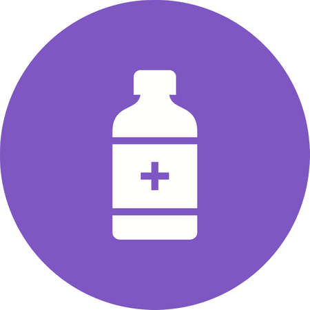 painkiller: Medicine, bottle, pill icon vector image. Can also be used for healthcare and medical. Suitable for mobile apps, web apps and print media.