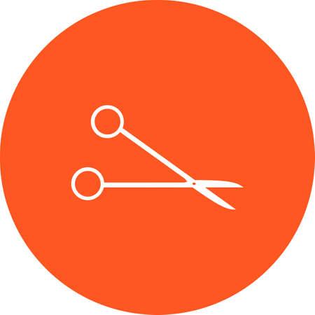 tijeras: Tijeras, corte, tijeras, imagen vectorial icono quir�rgica. Tambi�n se puede utilizar para la asistencia sanitaria y m�dica. Adecuado para aplicaciones web, aplicaciones m�viles y los medios impresos. Vectores