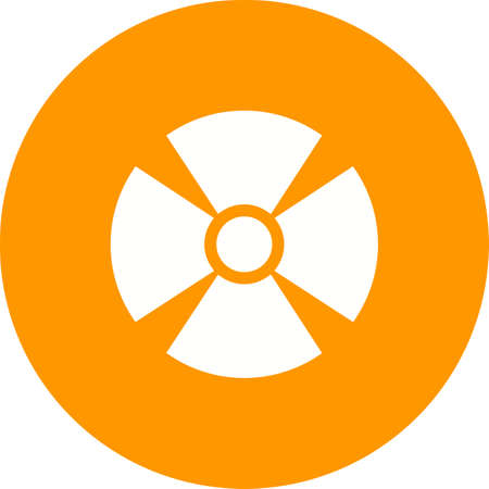 radioactive radiation: Radiation, radioactive, radio therapy icon vector image. Can also be used for healthcare and medical. Suitable for mobile apps, web apps and print media. Illustration