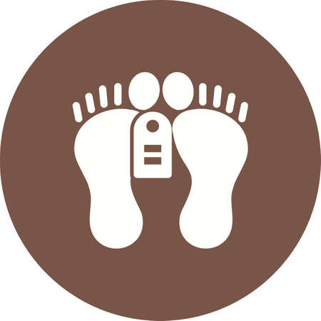 Feet, tag, dead, dead person icon vector image. Can also be used for healthcare and medical. Suitable for mobile apps, web apps and print media.