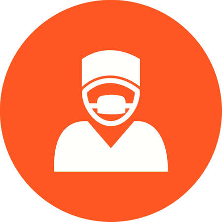 surgeon mask: Surgeon, doctor, surgery, mask icon vector image. Can also be used for healthcare and medical. Suitable for mobile apps, web apps and print media.