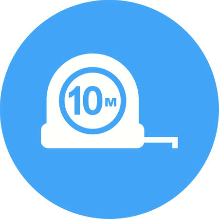 millimeter: Tape, measuring, tool icon vector image. Can also be used for construction, interiors and building. Suitable for use on web apps, mobile apps and print media.