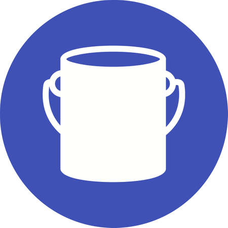 paint container: Paint box, bucket, paint bucket icon vector image. Can also be used for construction, interiors and building. Suitable for use on web apps, mobile apps and print media.