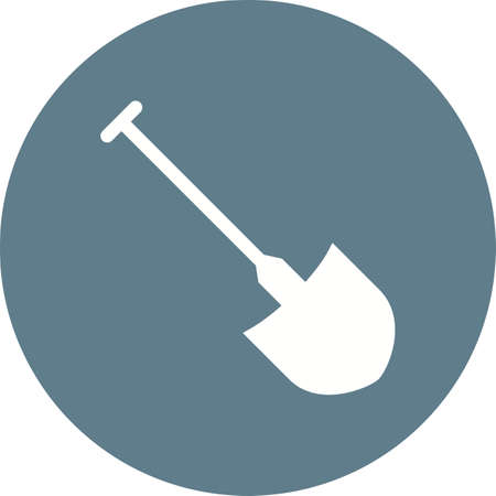 interiors: Shovel, spade, digger icon vector image. Can also be used for construction, interiors and building. Suitable for use on web apps, mobile apps and print media. Illustration