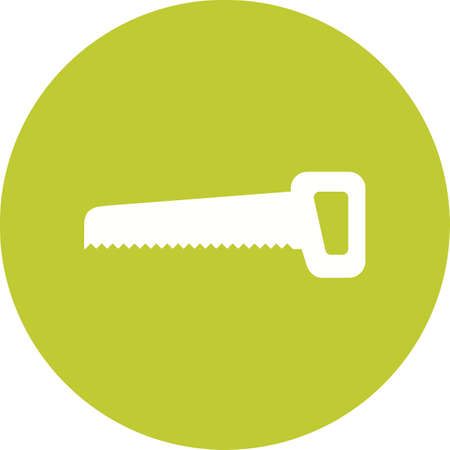 handsaw: Handsaw, equipment, blade icon vector image. Can also be used for construction, interiors and building. Suitable for use on web apps, mobile apps and print media.