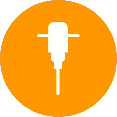 jack hammer: Hammer, jack, jackhammer icon vector image. Can also be used for construction, interiors and building. Suitable for use on web apps, mobile apps and print media.