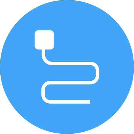 Kabel, Kabel, Draht-Symbol Vektor-Bild. Kann Auch Für Computer Und ...