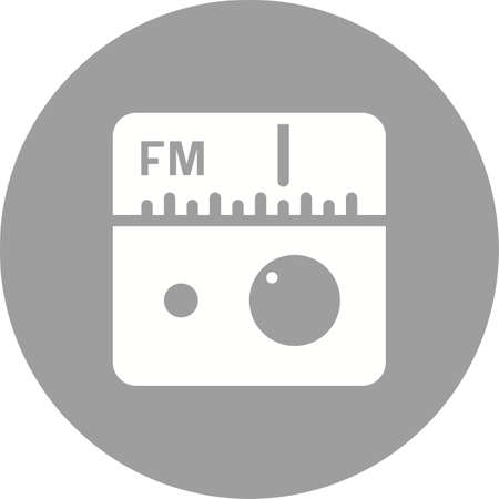 fm radio: Radio, FM, antenna icon vector image. Can also be used for mobile apps, phone tab bar and settings. Suitable for use on web apps, mobile apps and print media