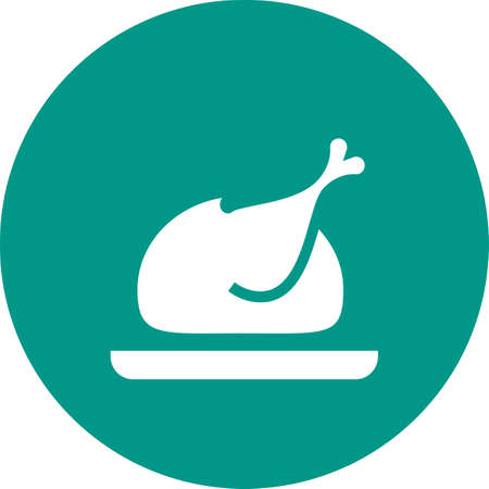 eatables: Chicken, roasted, turkey icon vector image. Can also be used for eatables, food and drinks. Suitable for use on web apps, mobile apps and print media Illustration