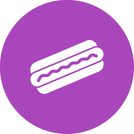hotdog: Hotdog, sausage, fries icon vector image. Can also be used for eatables, food and drinks. Suitable for use on web apps, mobile apps and print media