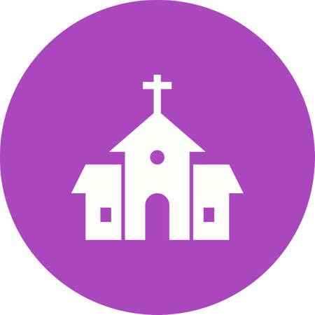 religious icon: Construcci�n, iglesia, religioso vector icono image.Can tambi�n ser utilizado para Pascua, celebraci�n, celebraciones y fiestas. Adecuado para aplicaciones m�viles, aplicaciones web y medios impresos.