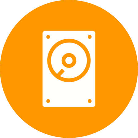 hard disk drive: Hard disk, drive, hdd icon vector image. Can also be used for computer and hardware. Suitable for use on web apps, mobile apps and print media.