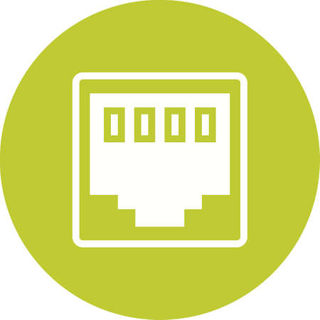 ethernet: Network, link, cable icon vector image. Can also be used for computer and hardware. Suitable for use on web apps, mobile apps and print media. Illustration