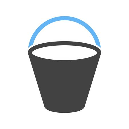 beach bucket: Sand, beach, bucket icon vector image. Can also be used for summer, recreation and fun. Suitable for use on mobile apps, web apps and print media.