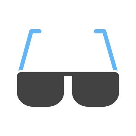 sunglasses recreation: Sunglasses, eyes, style icon vector image.Can also be used for summer, recreation and fun. Suitable for use on mobile apps, web apps and print media.