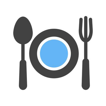 summer diet: Food, dinner, diet icon vector image. Can also be used for summer, recreation and fun. Suitable for use on mobile apps, web apps and print media.